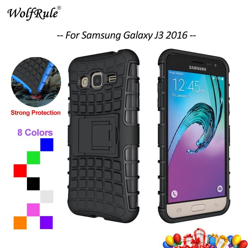 Galleria fotografica For Cover Samsung Galaxy J3 2016 Case For Samsung J3 2016 Armor Holder Phone Case For Samsung Galaxy J3 2016 Cover Shell J320 ]
