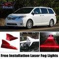 Instalação gratuita Para Toyota Sienna/Desejo/Avensis/Corolla Wagon/Laser de Barbatana de Tubarão Energia Solar Luzes de Nevoeiro/Aviso lâmpada