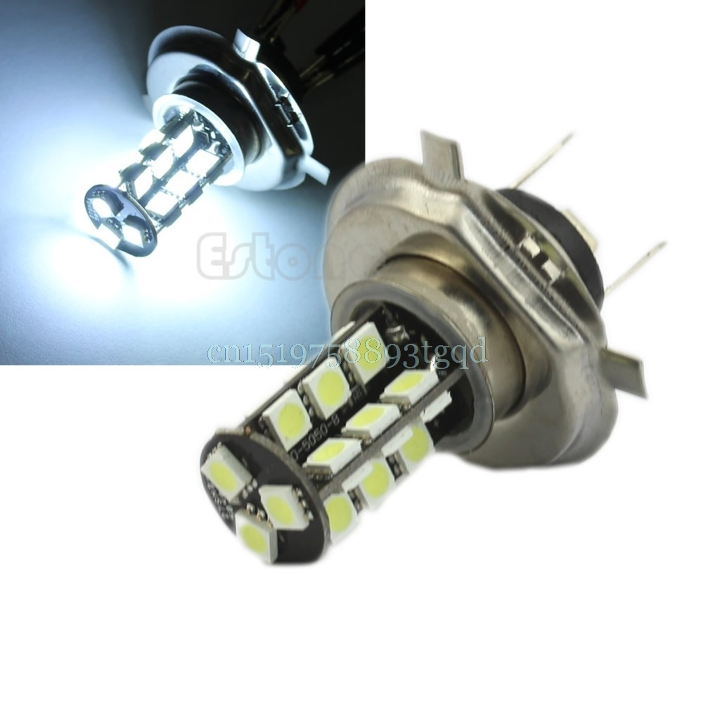 H4 5050 27-LED CANBUS Error Free LED Fog Signal Light Bulb Lamp White 12V#T518# forex b016 h 5050