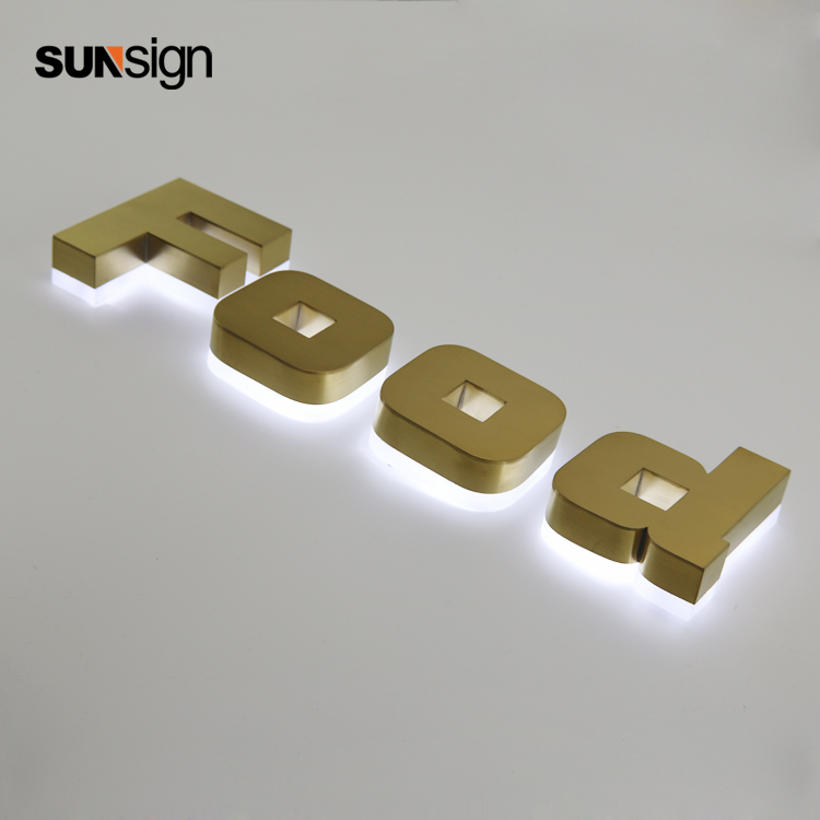 Waterproof Led Alphabet Letter Sign LED 3d Light Signage Led Halo Lit Letters For Advertising Signs