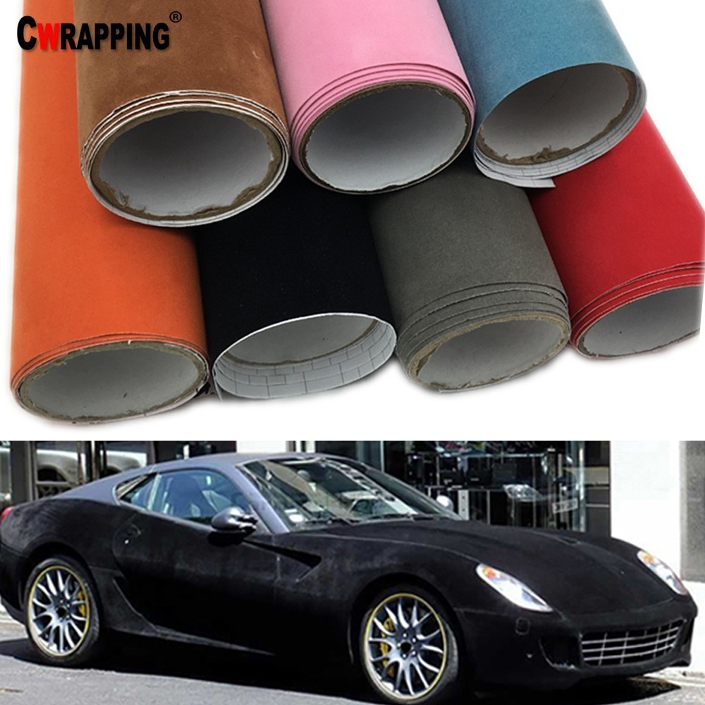 CAR Velvet Fabric Suede Vinyl Wrapping Films Change Color Self Adhesive Sticker For Automobiles Interior Outside Decoration