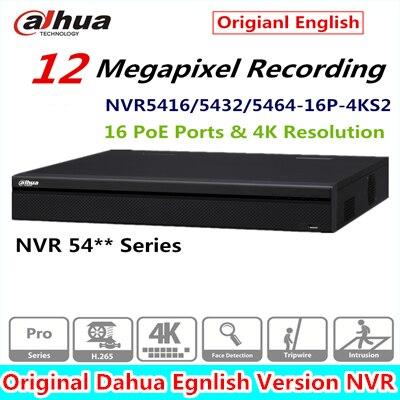 DaHua Surveillance Video Recorder 16/32/64CH 1.5U 4K Network Video Recorder NVR5416-16P-4KS2 NVR5432-16P-4KS2 NVR5464-16P-4KS2