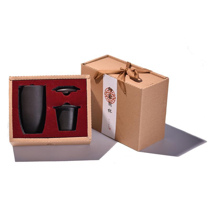 Ceramic Chinese Kongfu Ceramic Teapot Tea Pot Gaiwan Teacups Portable Office Tea Set For Friends Black Drinkware Travel Tea Set