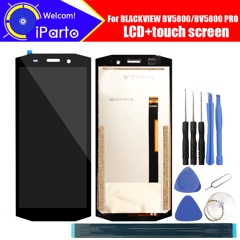 5.5 Inch BLACKVIEW BV5800 LCD Display+Touch Screen Digitizer Assembly 100% Original LCD+Touch Digitizer For BLACKVIEW BV5800 PRO