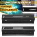 200mm alto precisio 0.02/0.05mm nível barra de graduação medição nivelador precisão graduada bolha tubos de ensaio barra horizontal nível