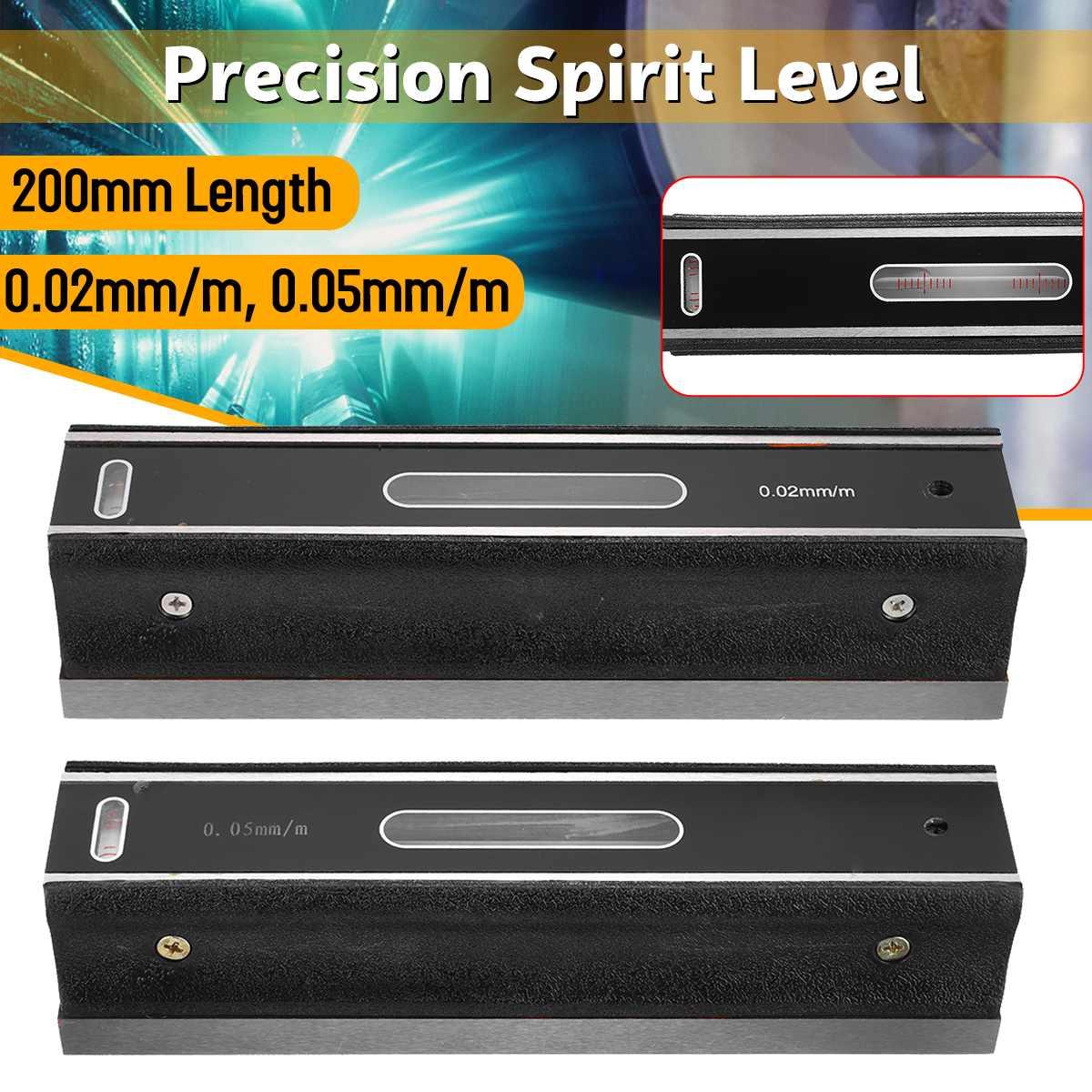 200mm haute précision 0.02/0.05mm niveau barre de Graduation mesure niveleur précision graduée flacons à bulles niveau de barre horizontale
