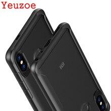 Yeuzoe For Xiaomi Redmi Note 5 Pro case Silicone TPU Frame Acrylic transparent back cover case for Redmi Note5 Pro coque capa