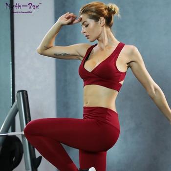 2d5f5287 Conjunto de Yoga para mujer, sujetador acolchado, Leggings, ropa deportiva,  chándal de gimnasio de secado rápido, mono de entrenamiento sólido para ...
