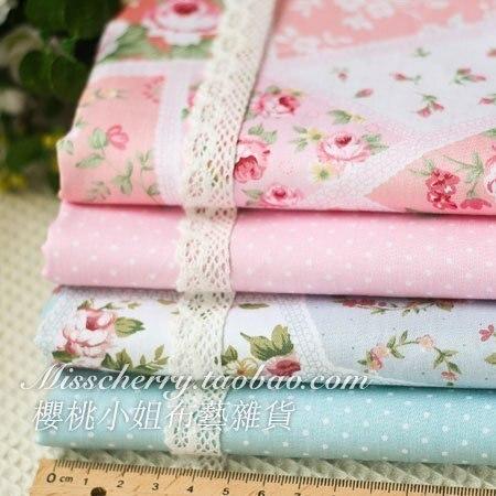 50x50cm 4pcs designer fabric for patchwork cotton fabric - Telas shabby chic ...