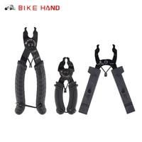 Bicicleta mão ferramenta de ligação mestre corrente ligação rápida aberto fechar ferramenta alicate de corrente de bicicleta ciclismo magia botão braçadeira remover kit|Ferramentas p/ reparo de bicicletas| |  -