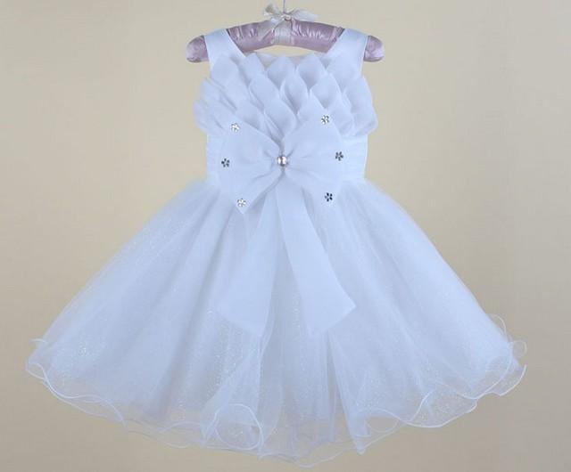 Bebé de la buena calidad del vestido de boda, niña de la boda ropa, vestido del bebé del envío