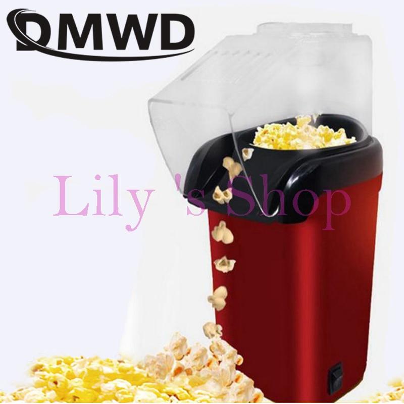DMWD Electric Corn Popcorn Maker Household Automatic Mini Hot Air Popcorn Making Machine DIY Corn Popper Children Gift 110V 220V