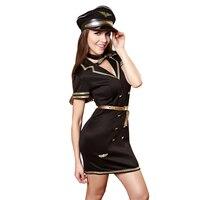 Sexy Lingerie Policewoman Costume Airline Stewardess Cosplay Costume Sexy Pilot Uniforms Temptation Girls Nightclub Clothing