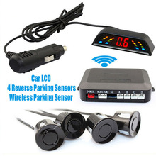 Wireless 2 4 GHz Transmitter Receiver Kit Car LED Parking Sensor with 4 Sensors 7 Colors