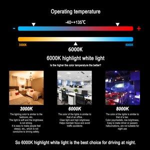 Image 3 - Roadsun 4 Tarafı 12000LM H7 H4 Araba kafa lambası ampulleri H11 HB4 Led HB3 9005 9006 12V 24V 110W 6000K oto lambaları Ampul Sis Lambası