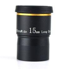 Datyson Ocular do Telescópio de 15mm 66 Graus de Ângulo Ultra Larga Totalmente Mutil Revestido 1.25 Portas Oferecer 6 Polegada mm 9mm 20mm para Escolher