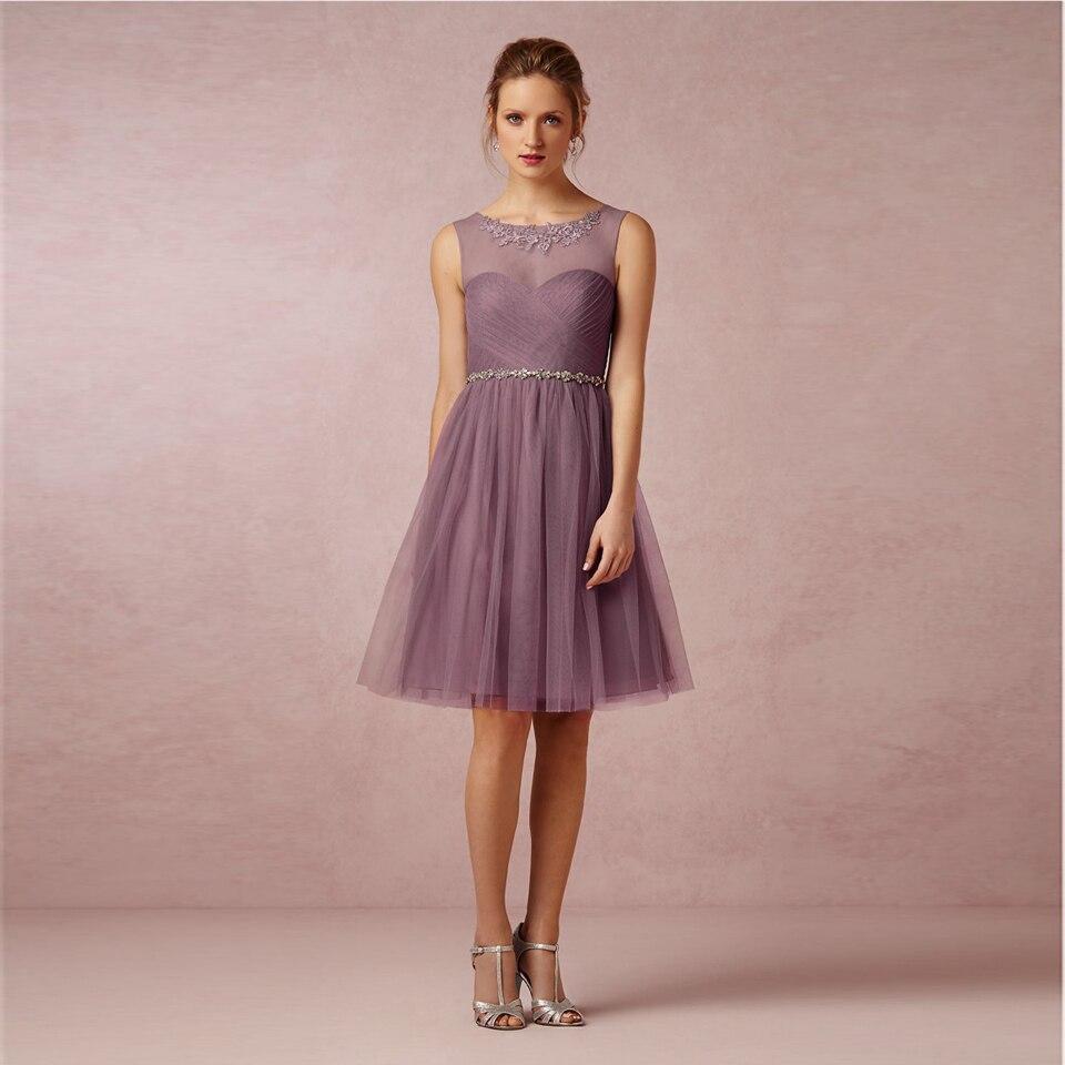 Único Boda Vestido Púrpura Composición - Colección de Vestidos de ...