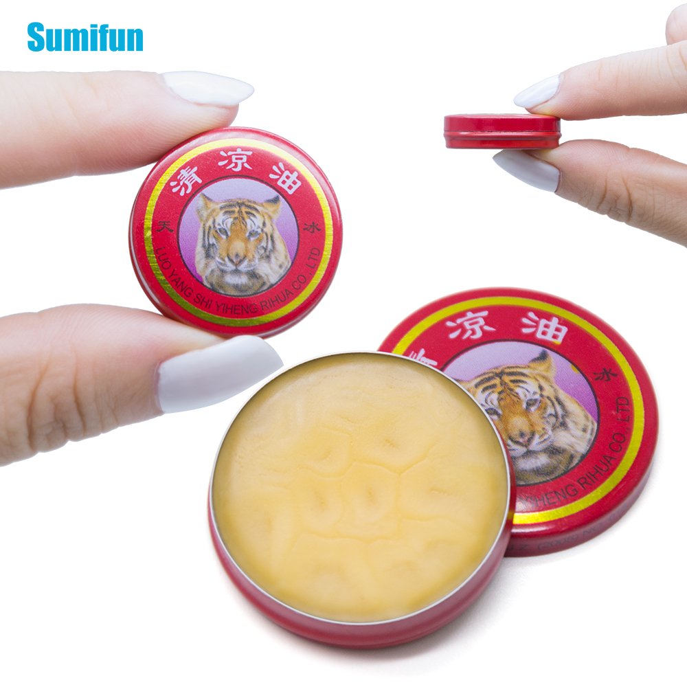 Sumifun 1Pcs Red Tiger Balm Ointment Essential Oil Massage Cream Pain Relief Ointment Cold Headache Stomachache P0003