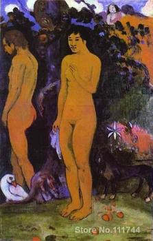 French impressionists art Adam and Eve by Paul Gauguin painting High quality Hand painted