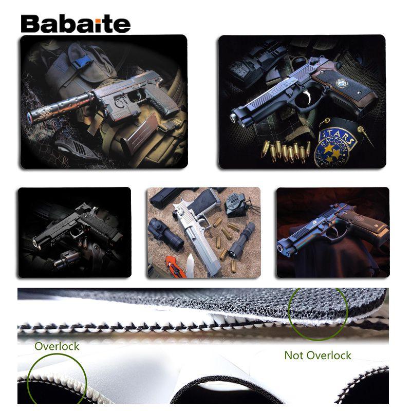 Babaite Новые поступления пистолет большой Мышь pad PC компьютер коврик Размеры для 180x220x2 мм и 250x290x2 мм Дизайн Мышь Pad ...