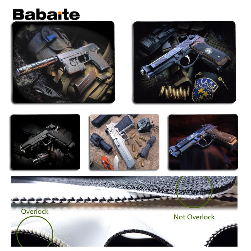 Babaite New Arrivals Gun Large Mouse pad PC Computer mat Size for 180x220x2mm and 250x290x2mm Design Mouse Pad