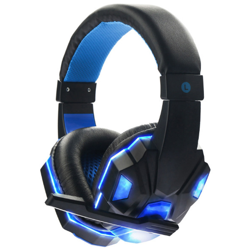 Soyto Gaming Headset Gamer Stereo Headphones Over Ear Gaming Headband Earphone With Dual Microphones LED Light For PC Desktop