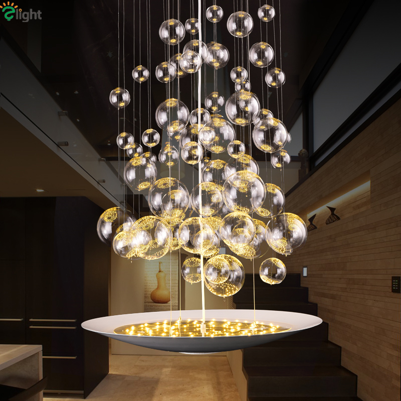 Post Modern Minimalism Glass Air Bubble 30W Led Chip Pendant Light Painted Metal Round Dia57cm Hanging Lighting For Restaurant furuyama m ando modern minimalism with a japanese touch taschen basic architecture series