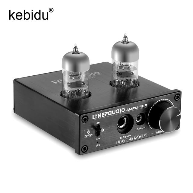 Kebidu Vacuum Tube Power Headphone Amplifier USB ASIO HiFi Sound Card  compatible with E180F 6688 EU