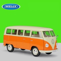 1:18 Welly VW T1 1963 Mini Bus Van Classic Diecast Model Car