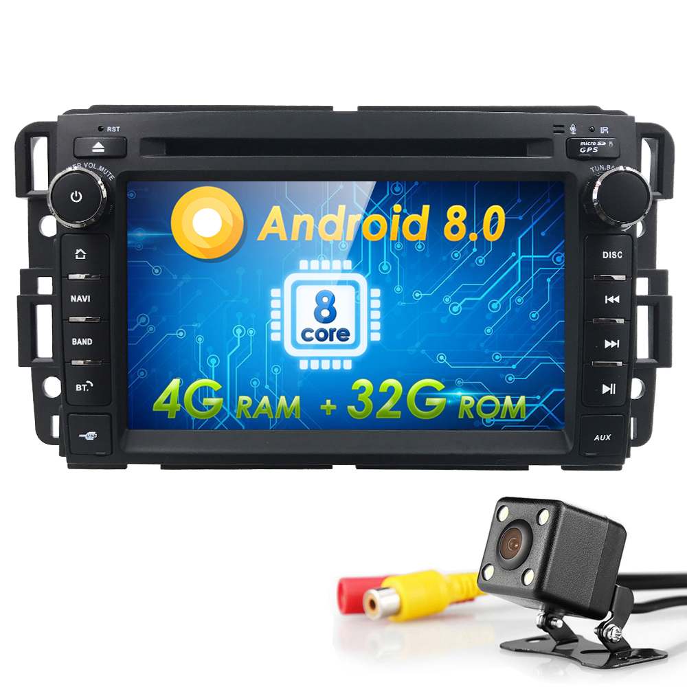 2Din Android 8.0 GPS Радио dvd плеер автомобиля для GMC Yukon Denali Acadia savana Сьерра Chevrolet Express траверс Equinox CD 4 г + 32 г