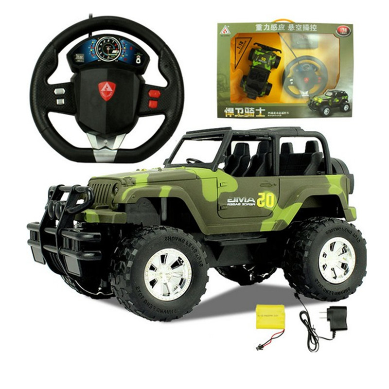 1:18 Rc Car 4wd Camouflage Hummer Remote Control Car Gravity Steering Wheel Charging SUV Remote Control off-road Vehicle Wltoys
