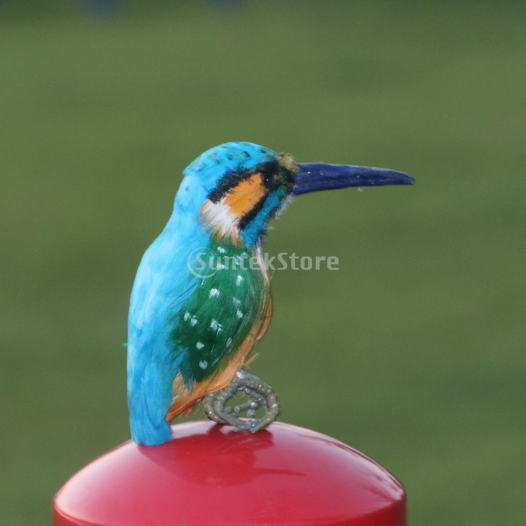 Realistic Kingfisher Birds Ornament Garden Sculpture Home Ornaments Creative Tree Decoration
