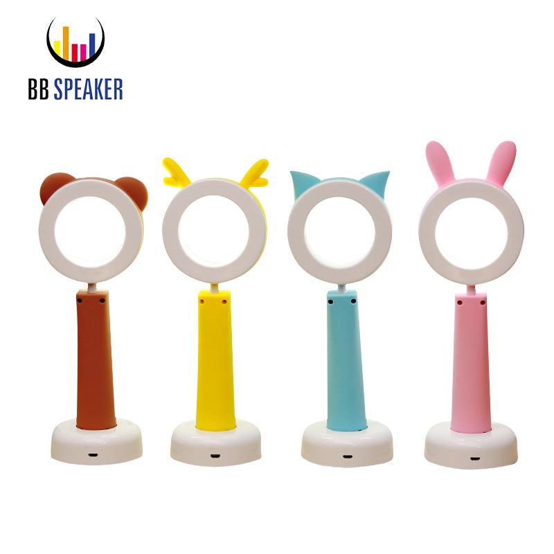 BB динамик настольная лампа 5 В USB Настольный свет Портативный Гибкая Настольная лампа Перезаряжаемые Led 3 уровня для детей исследование ночн...