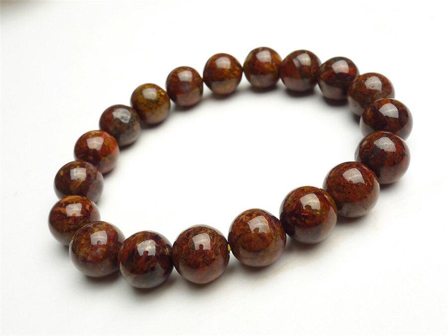 "Bracelet unisexe 10mm forme ronde Perles AAA naturelles Argentine Rhodochrosite Bracelet extensible Bracelet Bracelet hommes perles 7-7,5/"" longueur Rhodochrosite Bracelet pierres pr/écieuses"