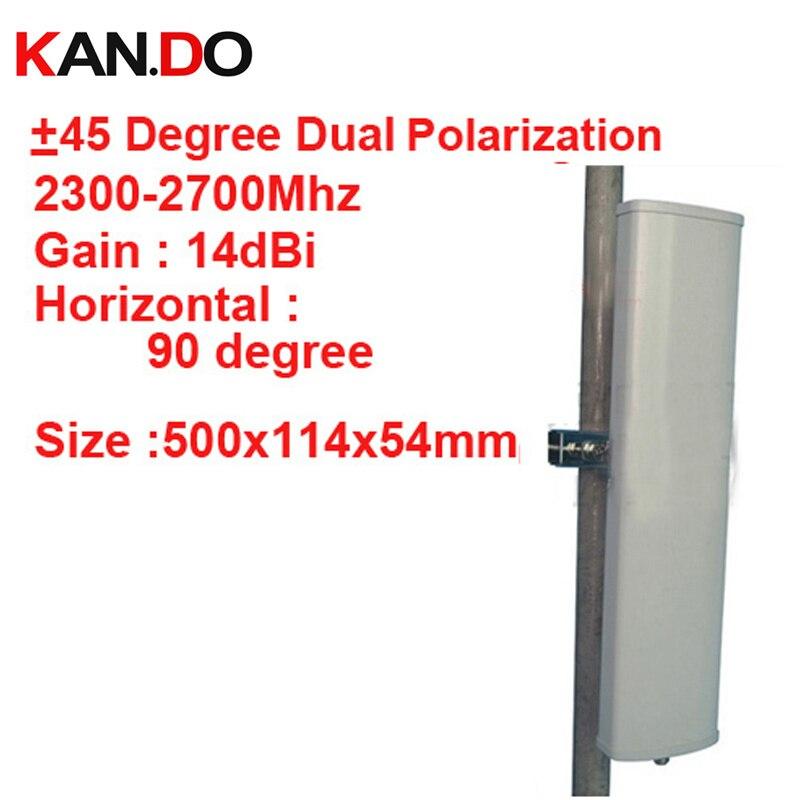 14dbi двойной поляризация + 45 & 45 град 2.3 2.7 г Панель Антенна 2.4 г Wi Fi антенны базовой станция использования антенны FDD 4 г антенны TDD антенны