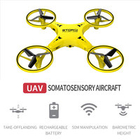 Gesture Sensing Drone Watch Control Drone Gesture Sensing UAV C Airplanes Quadcopter LED Gift Kids Toy Stable Gimbal 3D