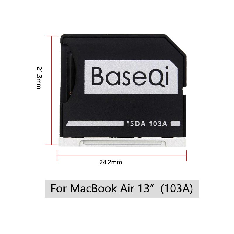 """Image 2 - BaseQi Micro SD Adapter pcmcia card for MacBook Air 13"""" memory stick pro duo adapter compact flash adapter card reader sd card-in Memory Card Adapters from Computer & Office"""