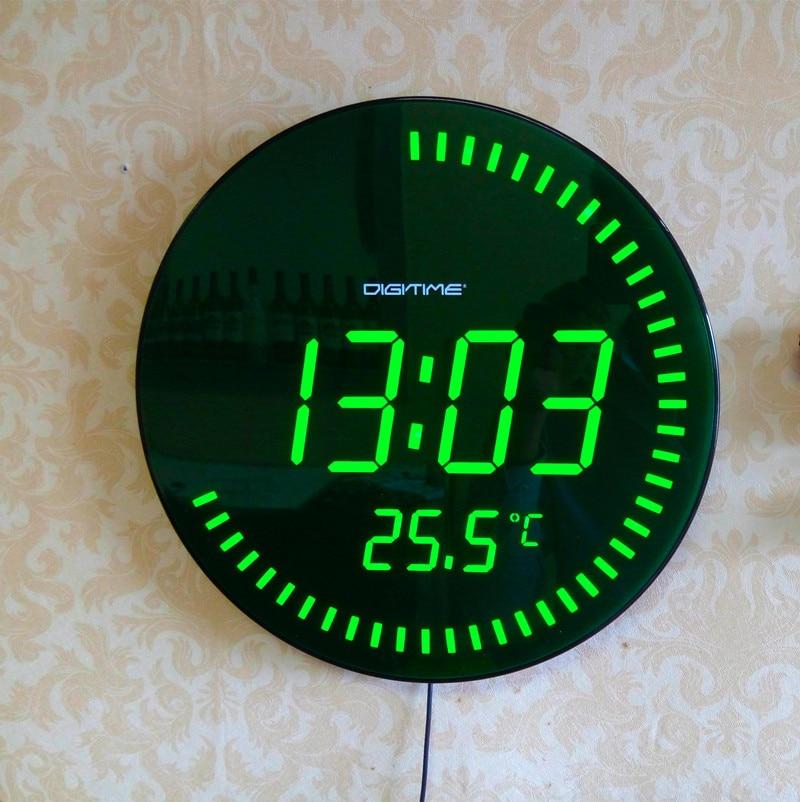 Декор украшения большой декоративный круглый настольные часы Красный Зеленый 3d творческий круговой светодио дный светодиодный цифровой н