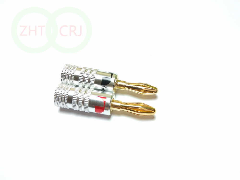 50pcs Nakamichi 24K Gold Nakamichi Speaker 4mm banana plug Audio connector