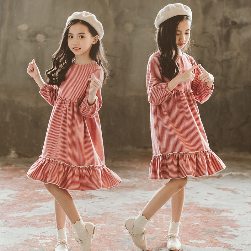 New 2018 Autumn Winter Girls Dresses Baby Princess Dress Kids Cotton Dress Children Party Dress Baby Girl Fashion Clothes,#3609 цены