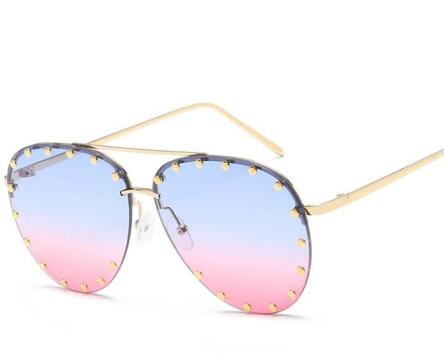 2019 Newest Fashion cat eye sunglasses women vintage oversize Luxury Brand Designer Bling Diamond Sun glasses men Female shades