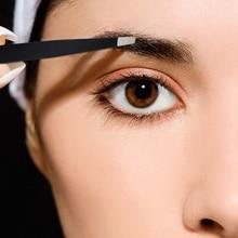 Brainbow 3pcs Eyebrow Tweezer Set Stainless Steel Slant Tip/Point Tip/Flat Tip Eyes Tweezers For Face Hair Removal Make Up Tools