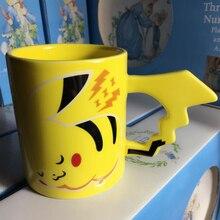 Neuankömmling kreative pokemon pikachu reisen kaffeebecher keramik tee trinkflasche tasse erwachsene, kinder geschenke espressotassen
