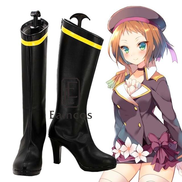 d479666acfc29 أنيمي الحب لايف! مشروع المدرسة المعبود A-RISE تأثيري أحذية حزب أحذية أسود  مخصص