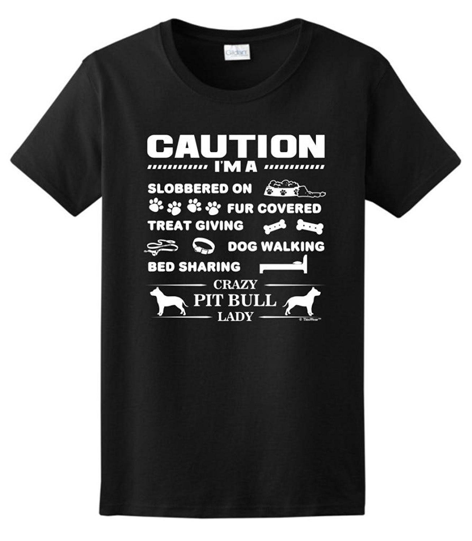 Возьмите Я сумасшедший питбуль леди, любитель собак женская футболка