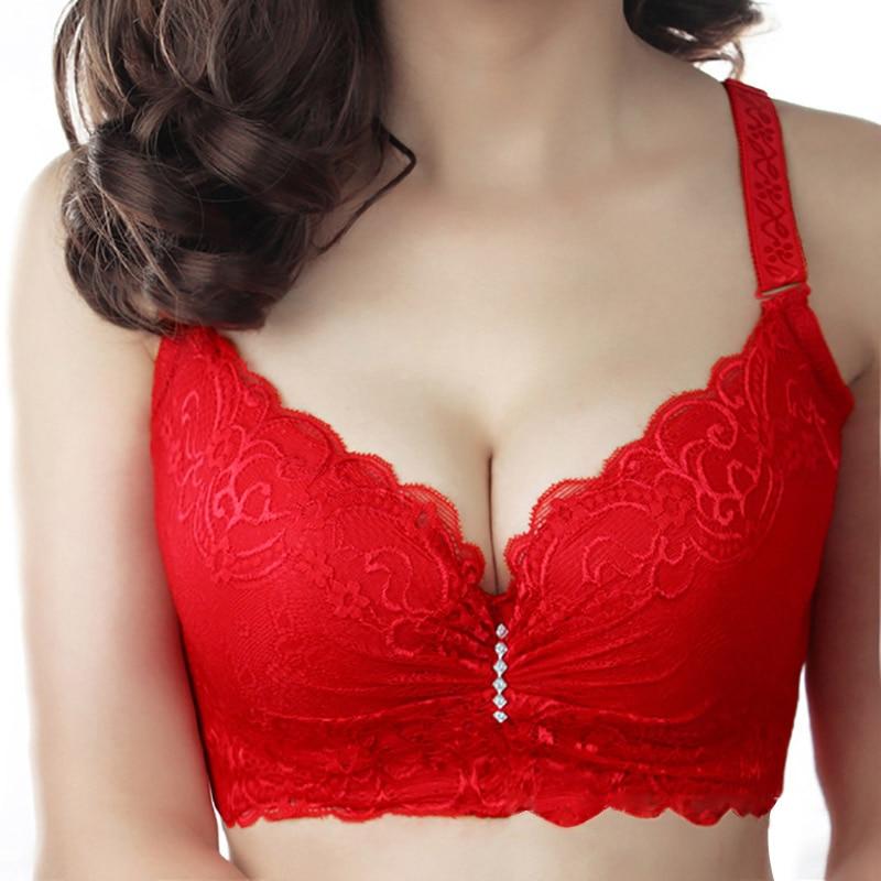 Xianqifen Bras For Women's Bra 2019 Plus Big Large Size Super Push Up Bralette Lace Intimates Sexy Lingerie Undrwear Underwire E