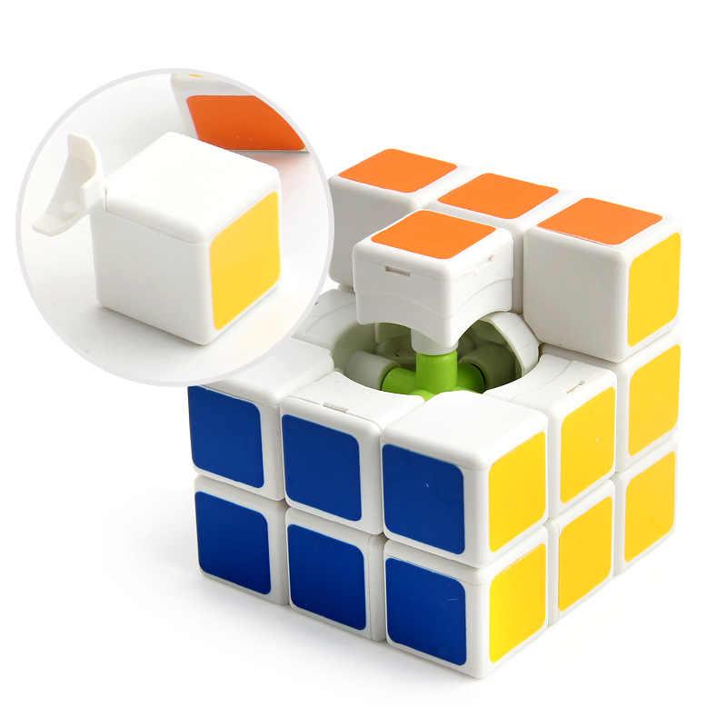 Красочные 3x3x3 волшебный куб профессиональный соревнования скорость Cubo не наклейки головоломка волшебный куб крутой для детей подарок игрушка мальчик F5