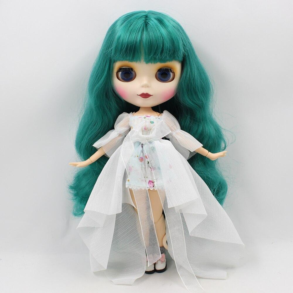 Blyth Nude Doll Joint Body Green Curly Hair 30cm fashion doll DIY makeup bjd blyth dolls for sale 12 blyth nude doll k 180 black hair bjd blyth doll for sale
