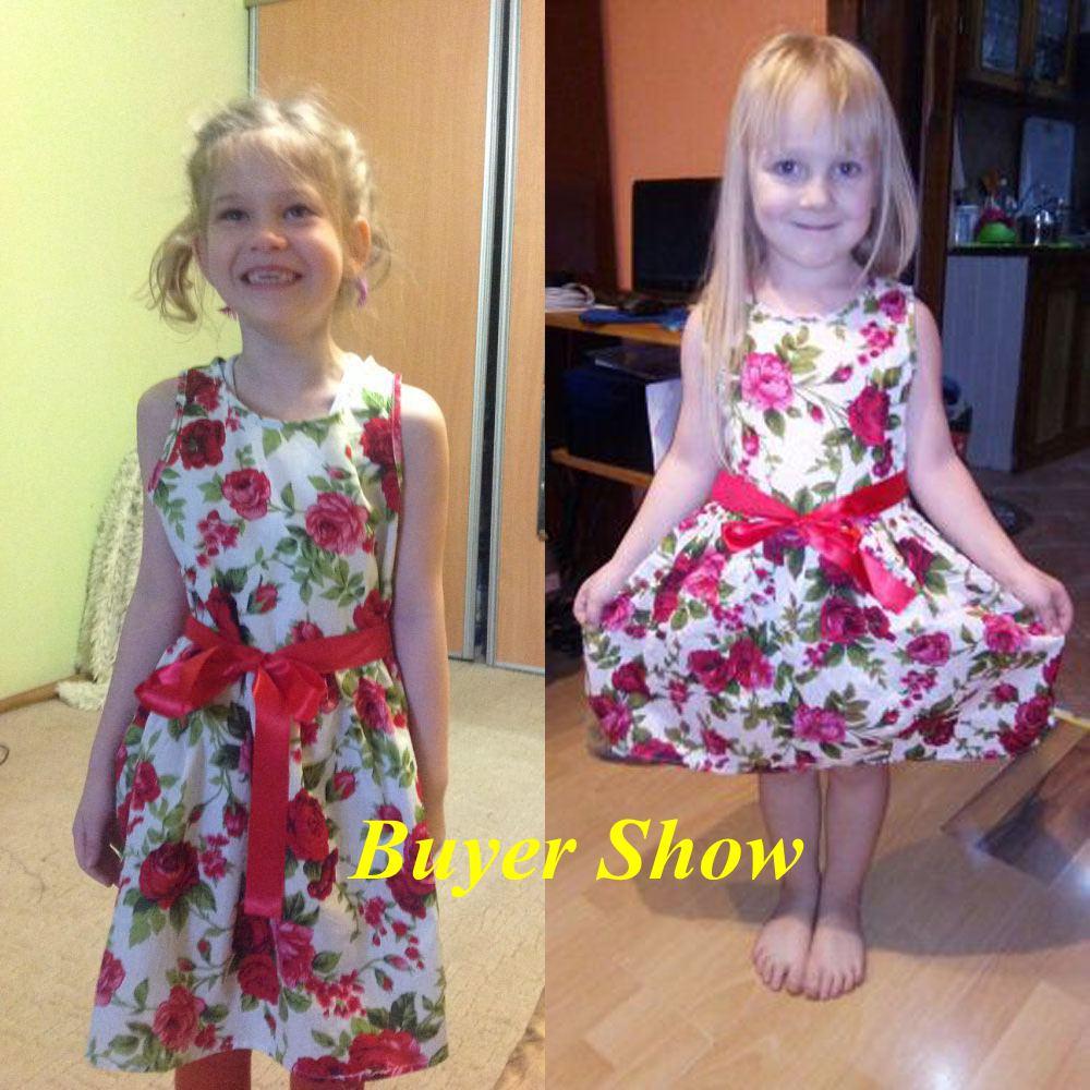 HTB1QsVPlStYBeNjSspaq6yOOFXaT Floral Children Baby Dresses Girl Wedding Party;Princess 1 Year Birthday Girls Dress Cotton Summer 2017 Teenage Vestido Infantil