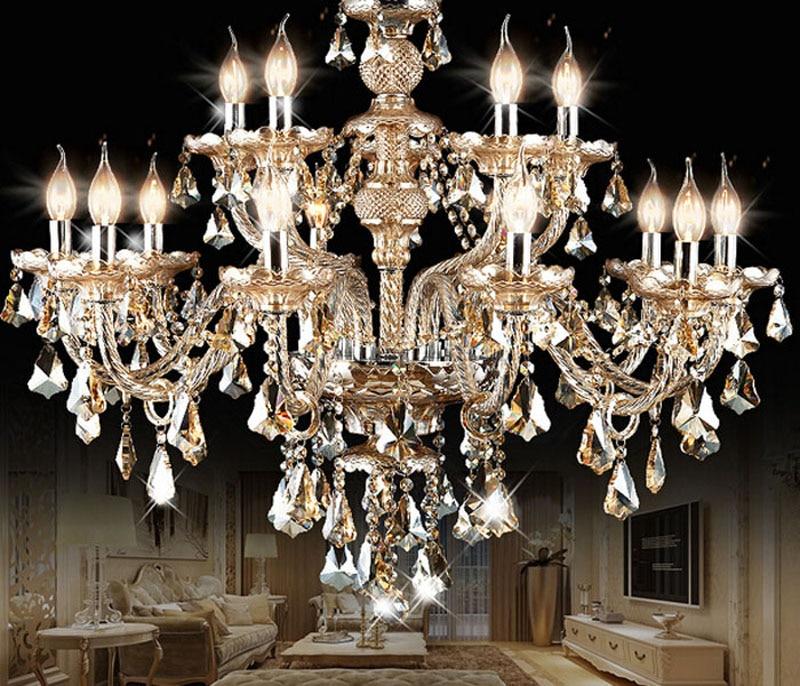 European Crystal Chandelier Living Room Restaurant Candle Crystal Light Jane European Luxury Retro Bedroom Duplex Floor Atmosphe